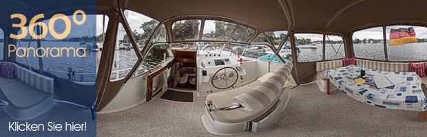 Panorama auf dem Bootsdeck